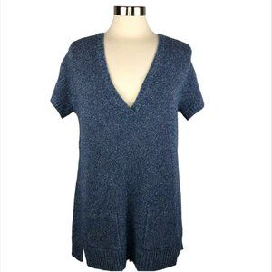Eileen Fisher Wool Silk ShortSleeve Tunic Sweater